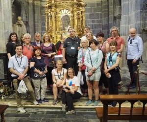 Das EUROPETOUR Team im Kloster Santo Toribio de Liébana