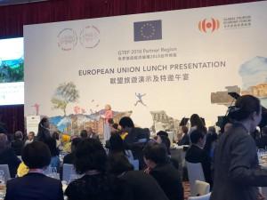Kulturtourismus für Europa: Dr. Karin Drda-Kühn stellte 700 chinesischen Touristikern Europas Kulturregionen vor